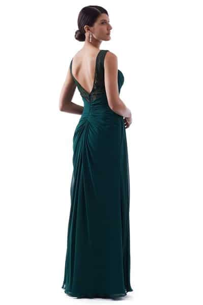 Chiffon Bridesmaid Dress - BM1824-Back