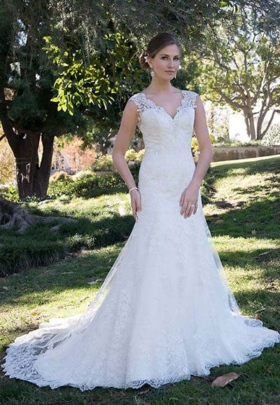 Beaded Lace Wedding Dress VE8268