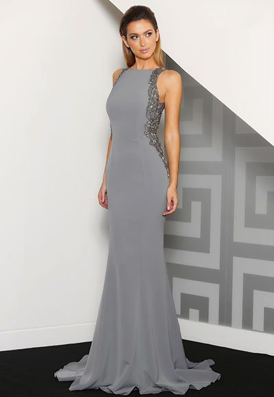 Ball Gown J8060 charcoal black