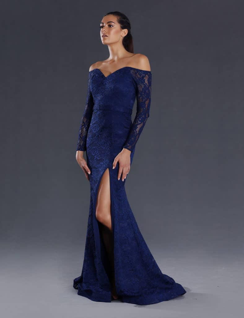 JX063 Navy Gown
