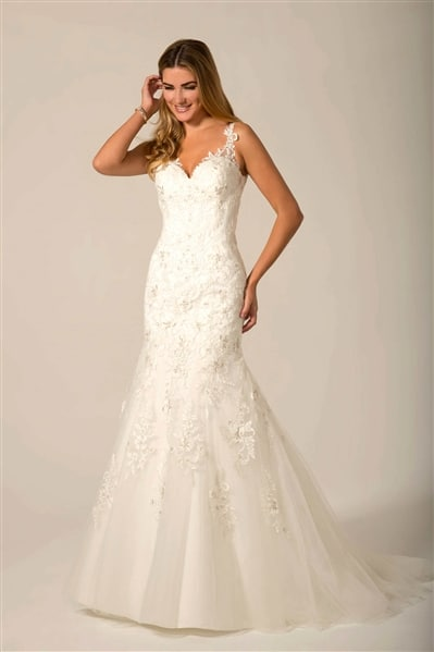 AT4677 beaded lace wedding dress
