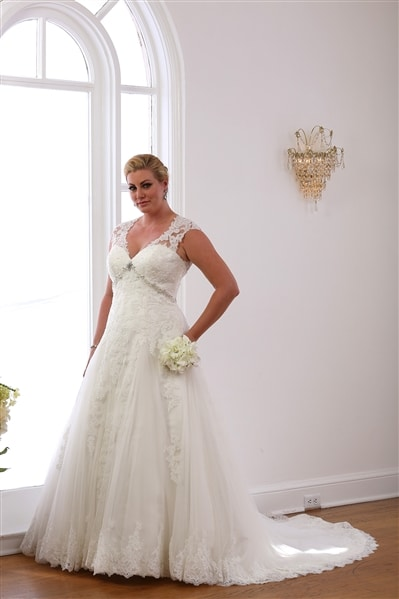 VW8700 Princess Lace A-line wedding gown