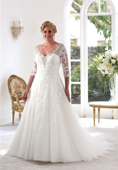 VW8717 Beautiful Plus Size Princess Wedding Dress