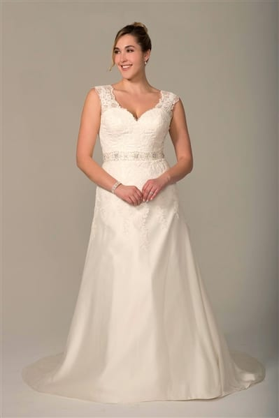 VW8750X Plus Size Lace Wedding Dress