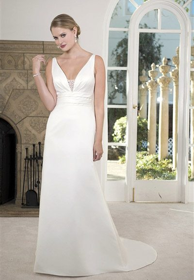 PA9261 Satin Wedding Dress Auckland