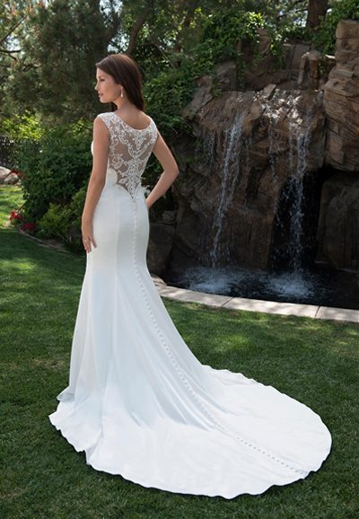 PA9264 Wedding Dress Back