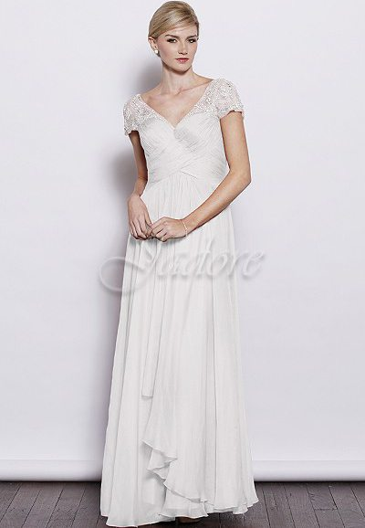 J3053 Silky Chiffon Wedding Dress Auckland