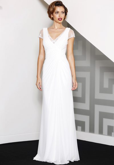 J8042 soft elegant wedding dress