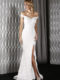 J9013 Off the shoulder wedding dress