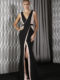 J9081 stretch lycra gown