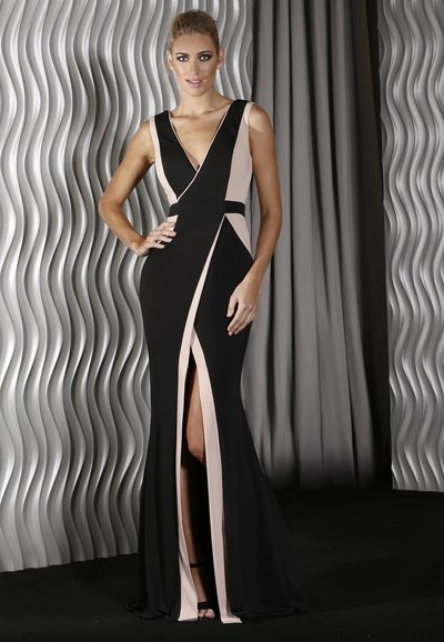 J9081 stretch lycra gown Auckland