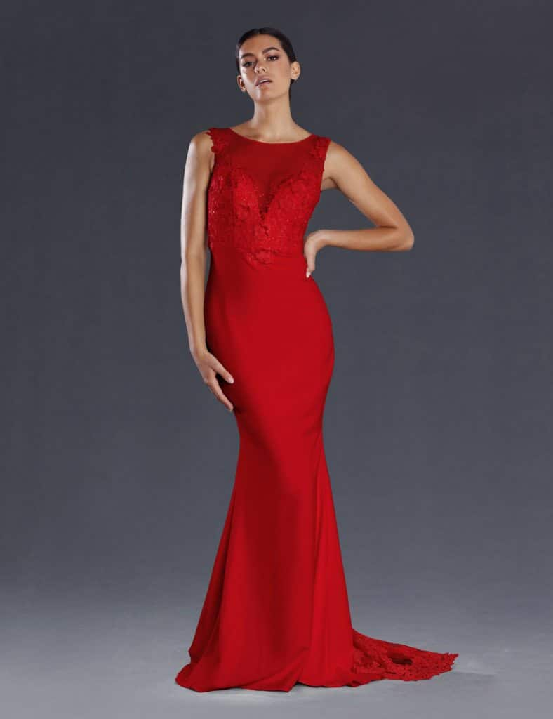 JX097 Red Ball Gown