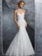 8210 Fit and flare wedding dress
