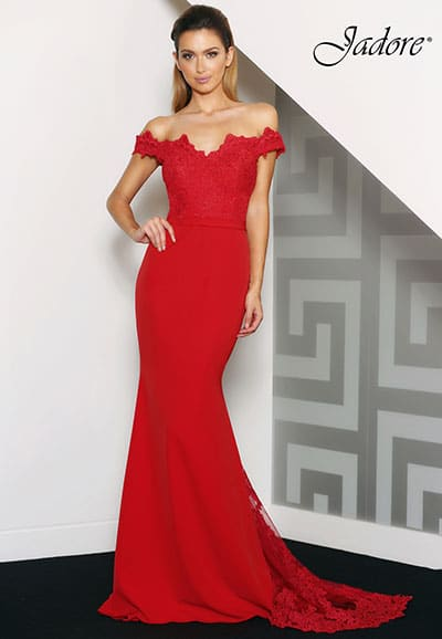 J8033 Stunning full length gown by Jadore