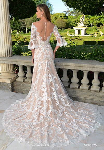 VE8357NB over lace mermaid wedding gown