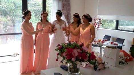 Bride and bridesmaid dress testimonial