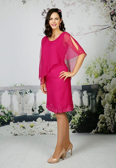 Mother-of-the-bride-dress---ED006 Fuchsia-Thumbnail