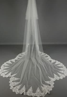 Scalloped Corded Lace Veil 280x400 - Bridal Accessories