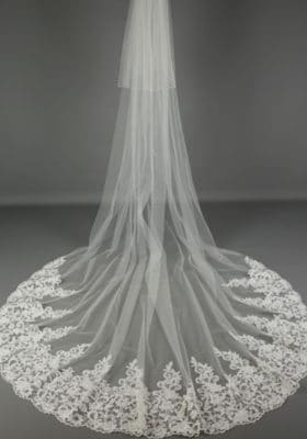 Statement Open Lace Veil 280x400 - Bridal Accessories