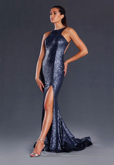 Ball Gown JX008-Navy