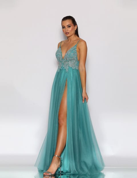 Ball Gown JX2099 Aqua
