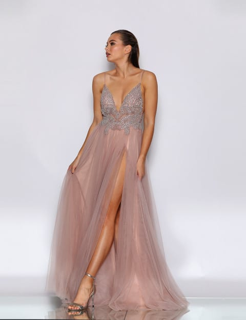 Ball Gown JX2099 Dusty Pink
