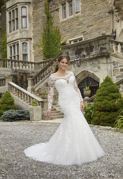 Sasha Plus Size Bridal Gown 3285 - thumbnail