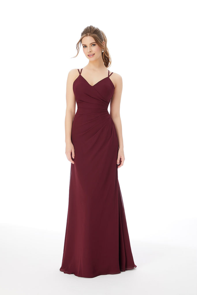 Strappy-Chiffon-Bridesmaid-Dress