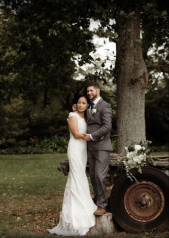 Wedding-dress-with-lace-train-for-Esther