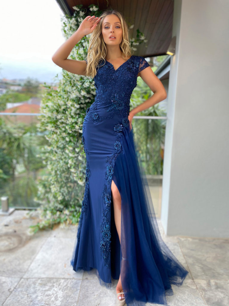 Ball Gown JX5004-Navy-2